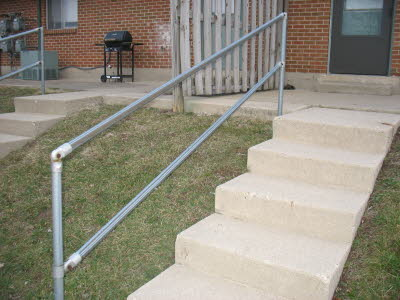 Outdoor Residential Stair Rail