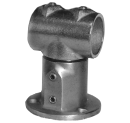 151-R Adjustable Wall Mounted Railing Fitting Round Base