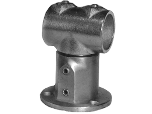151-R Adjustable Wall Mounted Railing Round Base